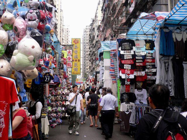 Cho quy ba Lady Market Hongkong