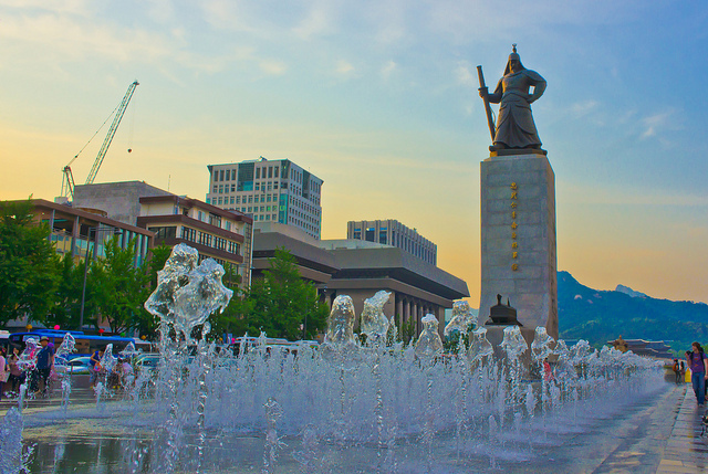 Quang truong Gwanghwamun 2